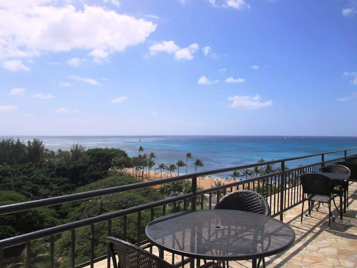 Steps  to Waikiki  Beach , Great View