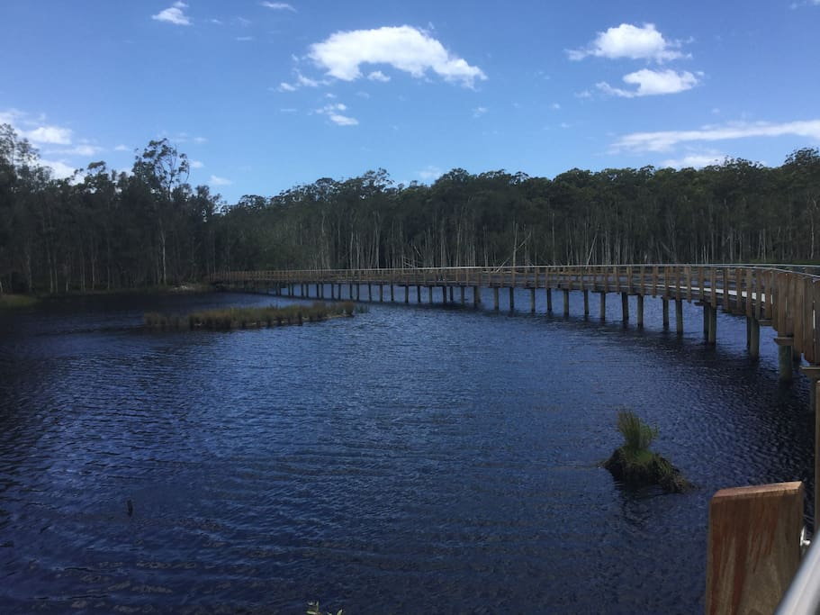 Urunga Wetlands - a short walk from our place. Peaceful