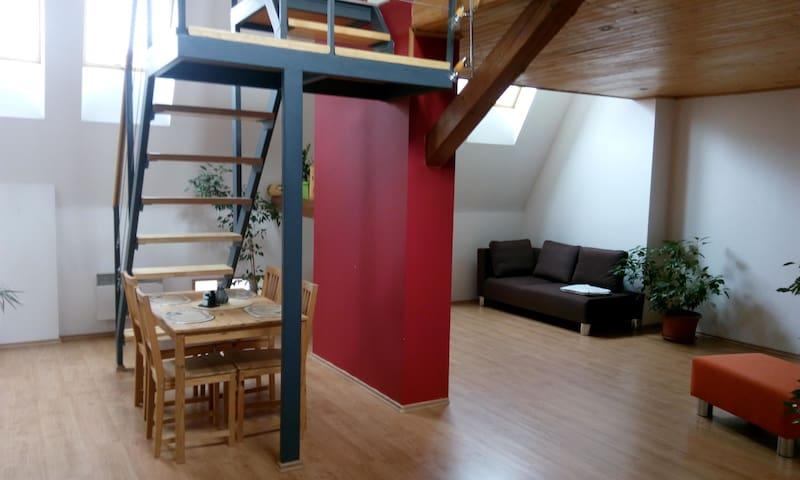 Vybavený podkrovní byt (mezonet) - Brno