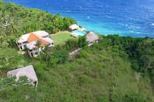 Your private villa and this breathtaking view.