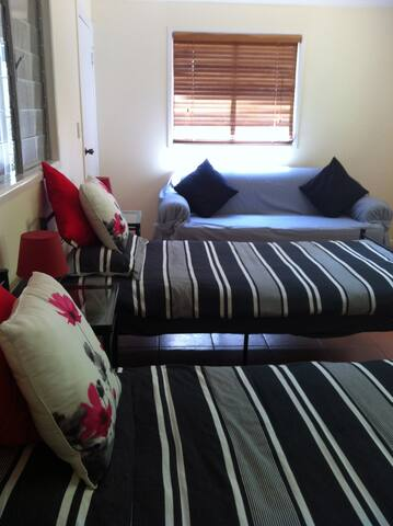 Large twin bed room onto garden. - North Tamborine - Maison