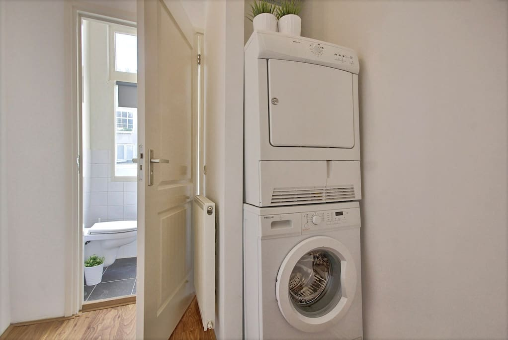 Washing machine and dryer for our guests.