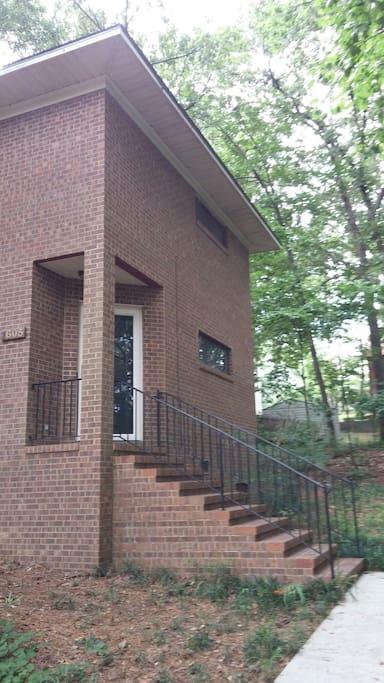 Front entrance to the Unique Loft Home.