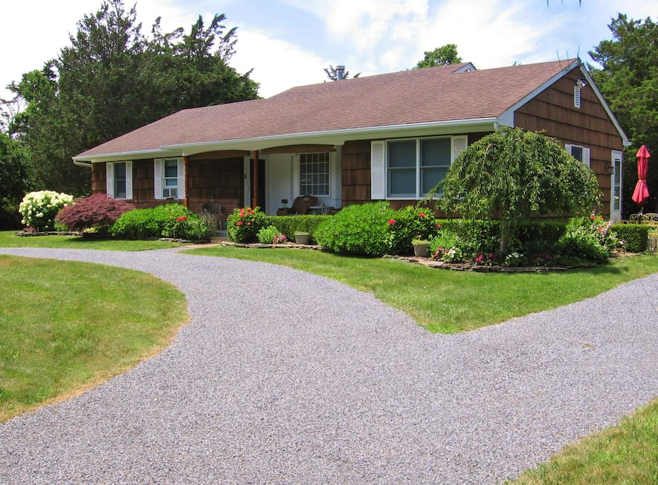 A one-level cedar shingled ranch.  Park up to 4 cars in the driveway.