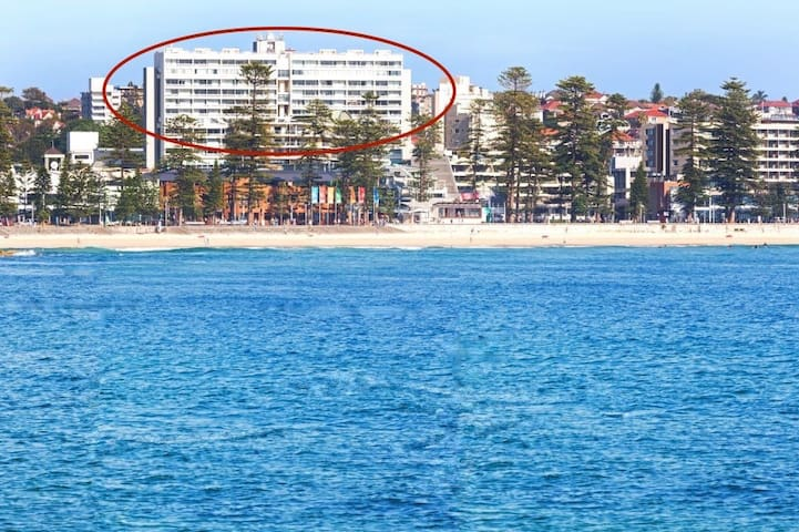 Circled is the building in proximity to the beach. The apartment is located on the 6th floor but does not have ocean views