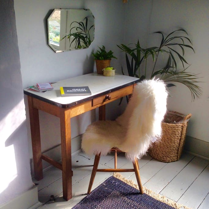 A desk by the window