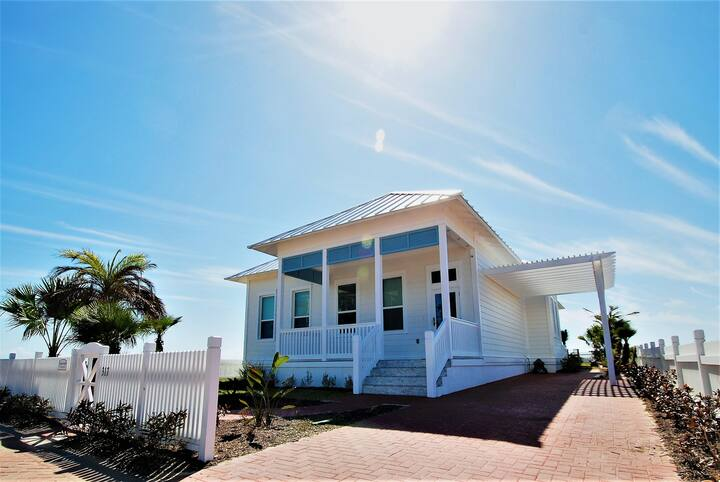 New custom home at The Shores, sandy steps to the bay, short walk to the beach