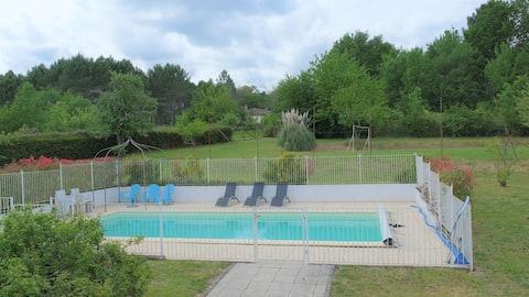 Longère200m2,12pers,piscine,étang,PROMO 2 SEMAINES