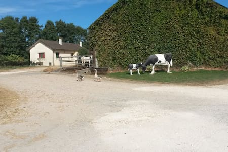 Little house on a dairy farm - Méry-es-bois  - Casa