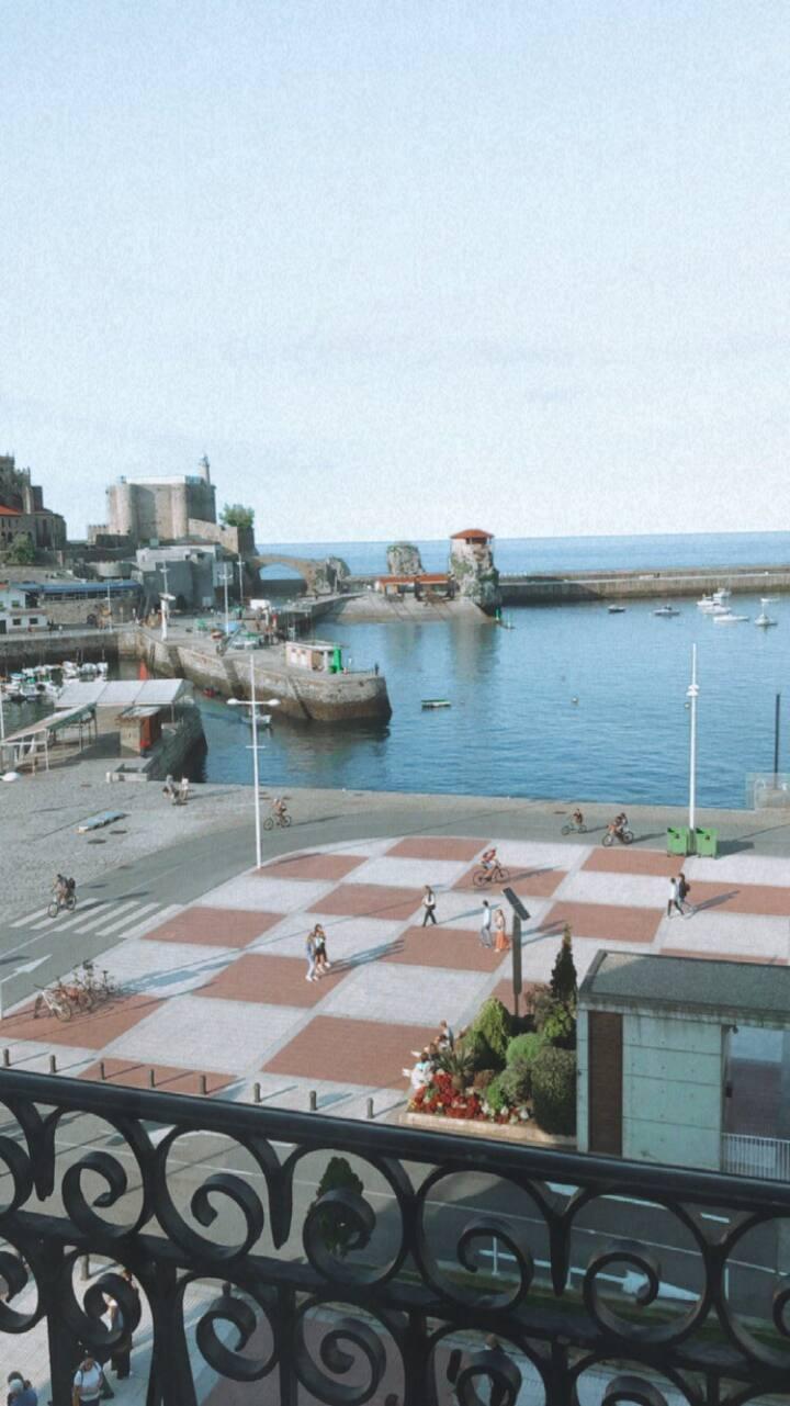 Habitación privada /piso en frente Del Mar/Castro