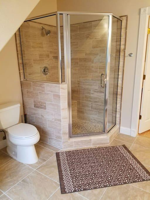 A spacious shower!