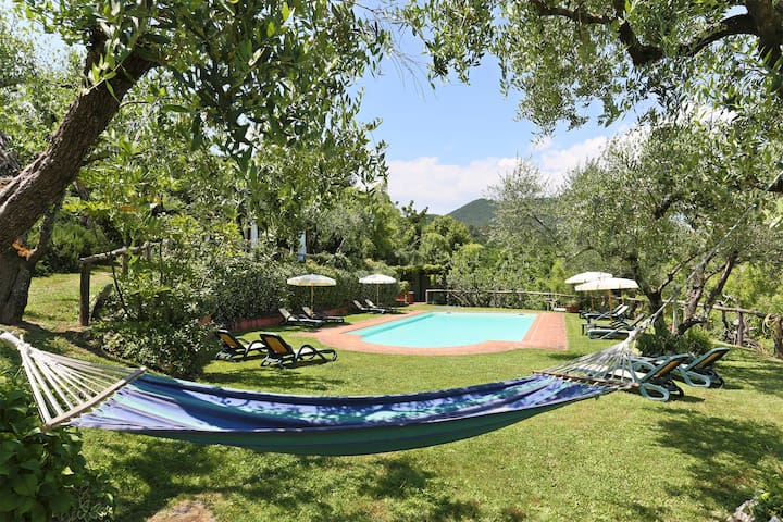 House Orfeo in large property with pool and view