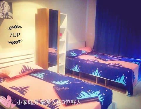 412海边精装单身公寓 三人间 可做饭冰箱微波炉 中文电视