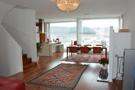Luxuswohnung 140 m² - 10 Min. bis Salzburg Zentrum - Bergheim - Apartament
