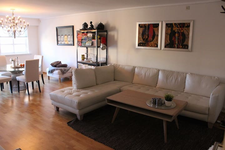 Large, modern apartment located in the city centre
