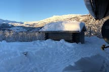 Panoramic view seen from the kitchen window