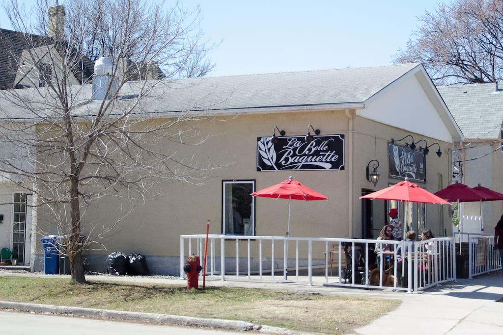 Bakery across the street