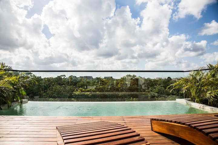 Prívate Pool  2BR penthouse in the heart of Tulum