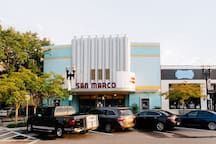Catch a flic at the historic San Marco Theatre!
