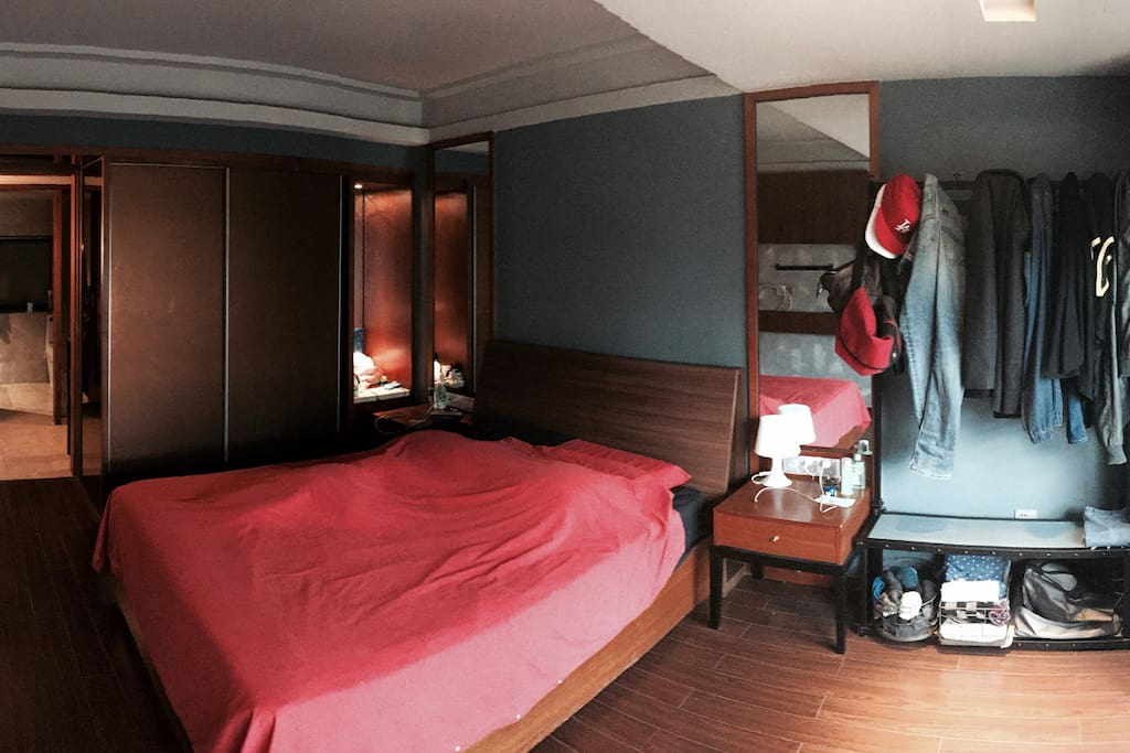 Large bedroom and double bed!