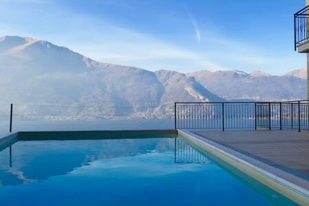 appartamento con 3stanze vista lago