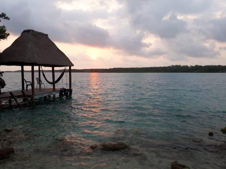 Casa Zazil Há Xul Há 7-11 huéspedes, orilla laguna