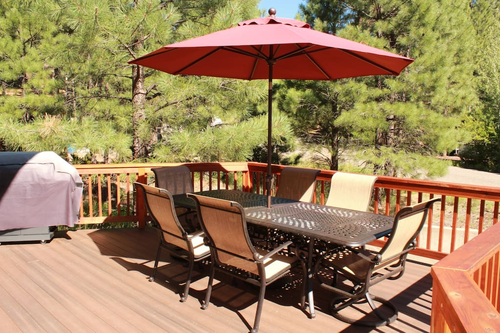 Quality patio furniture and propane grill