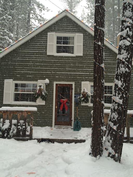 1950 39 s cabin the zen den case in affitto a south lake for Animali domestici della cabina del lake tahoe