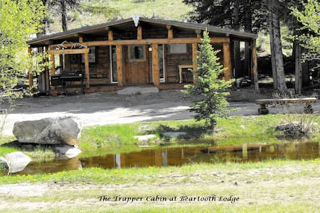 Scenic Riverfront Trapper Cabin at Beartooth Lodge