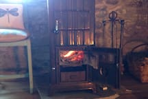 Old French wood-burning stove.