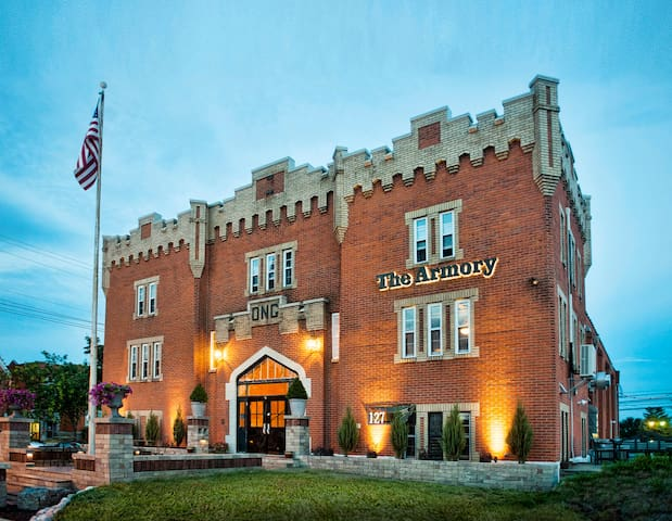 Beautiful full suite located in historic Armory