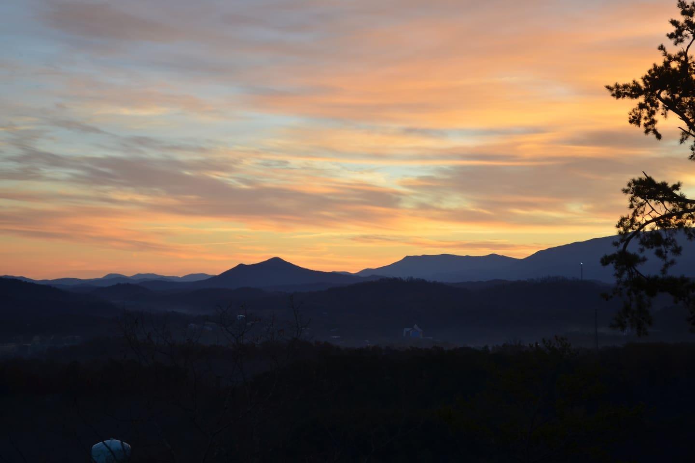 Nature,Outdoors,Mountain,Mountain Range,Red Sky