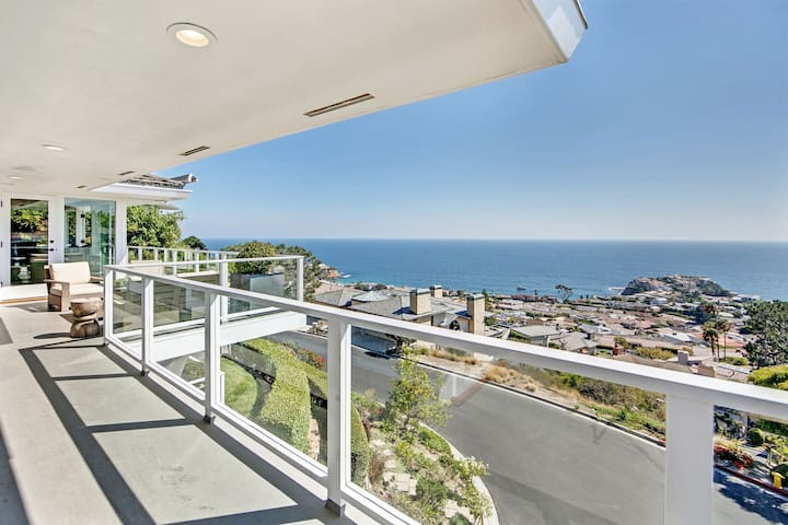 Sweeping Views, Wrapping Balconies, Walk to Beach  More
