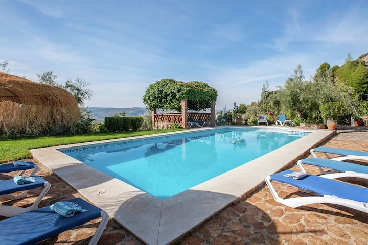 Rural holiday home located in an old andalusian cortijo , shared swimming pool