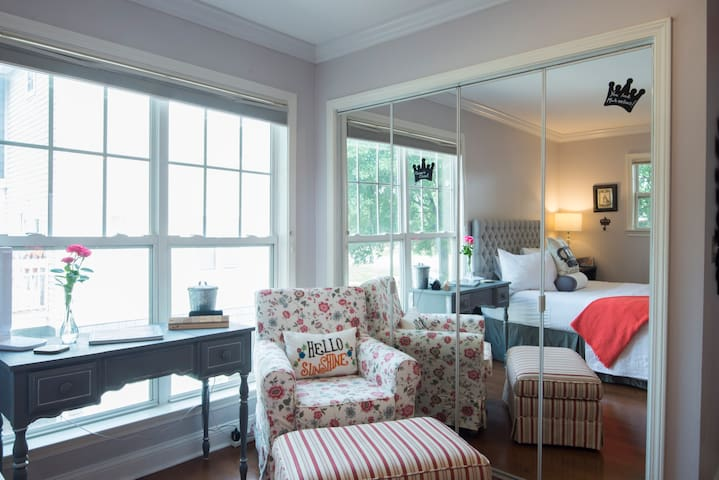 Curl up with a good book in the comfy chair as the sunlight streams in the large window.