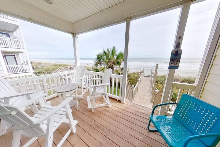 """Sweet Carolina"" - Perfect Surfside Oceanfront Location!"