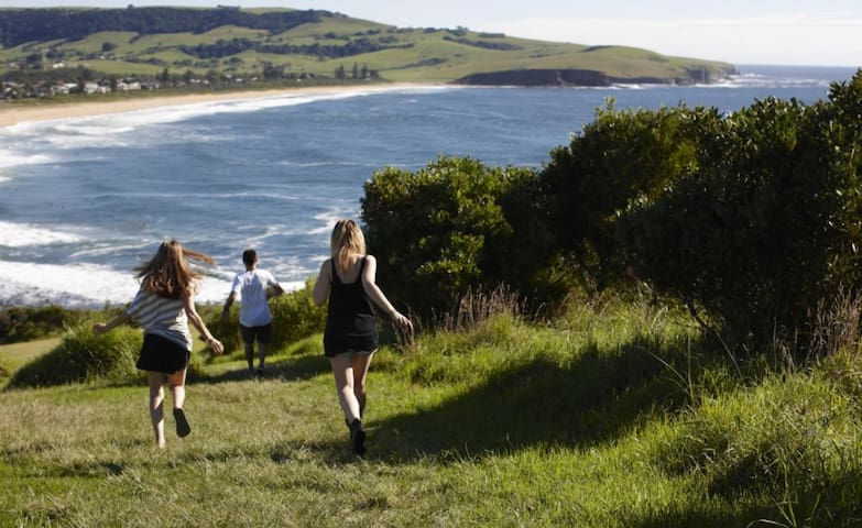 Just round the corner from Gerringong shops