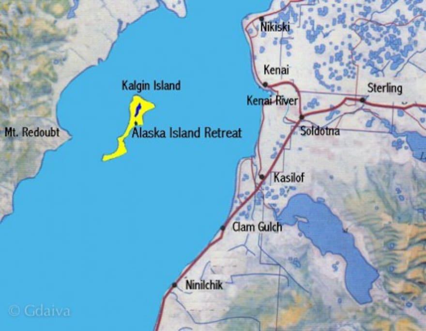 The lodging is on Kalgin Island