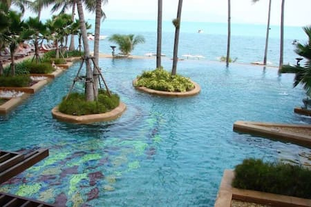 2 bed apartment Bophut, beachfront resort - Ko Samui