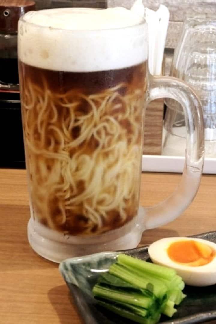 Craziest Ramen! Name is Ramen beer!