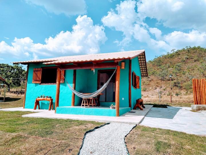Chalé Azul na Vila do Morro