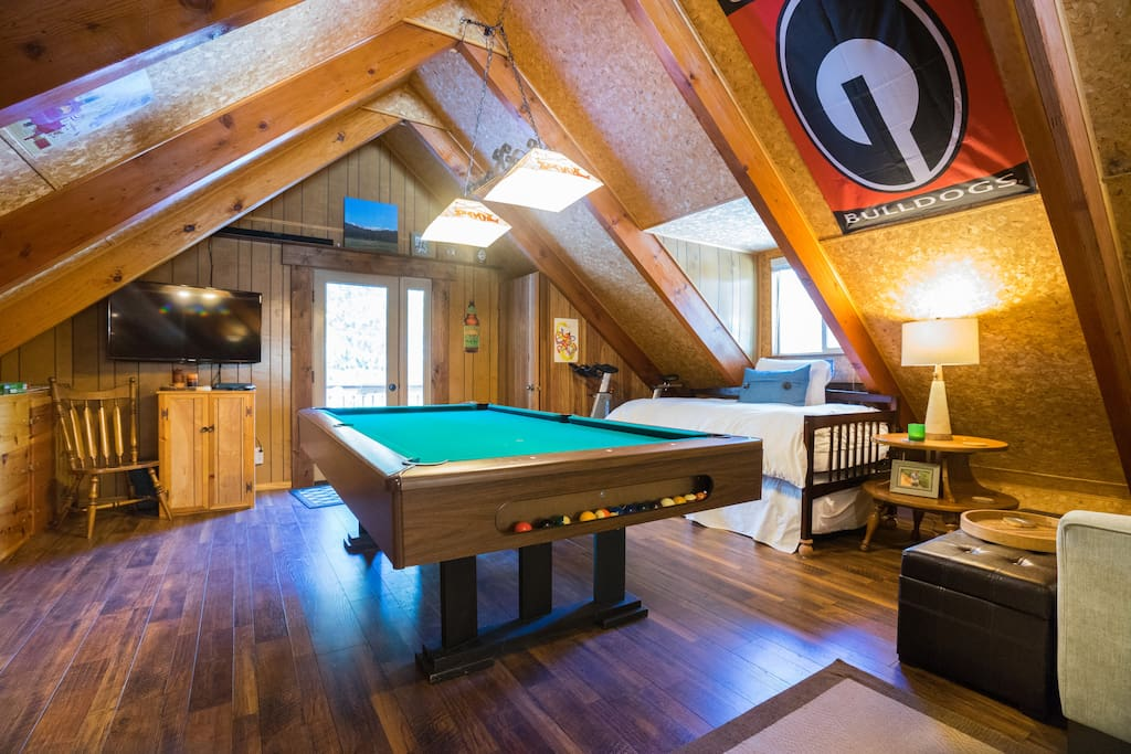 Enjoy games in the spacious loft