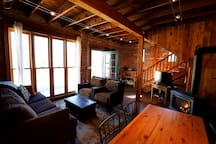The main living space in the cottage.