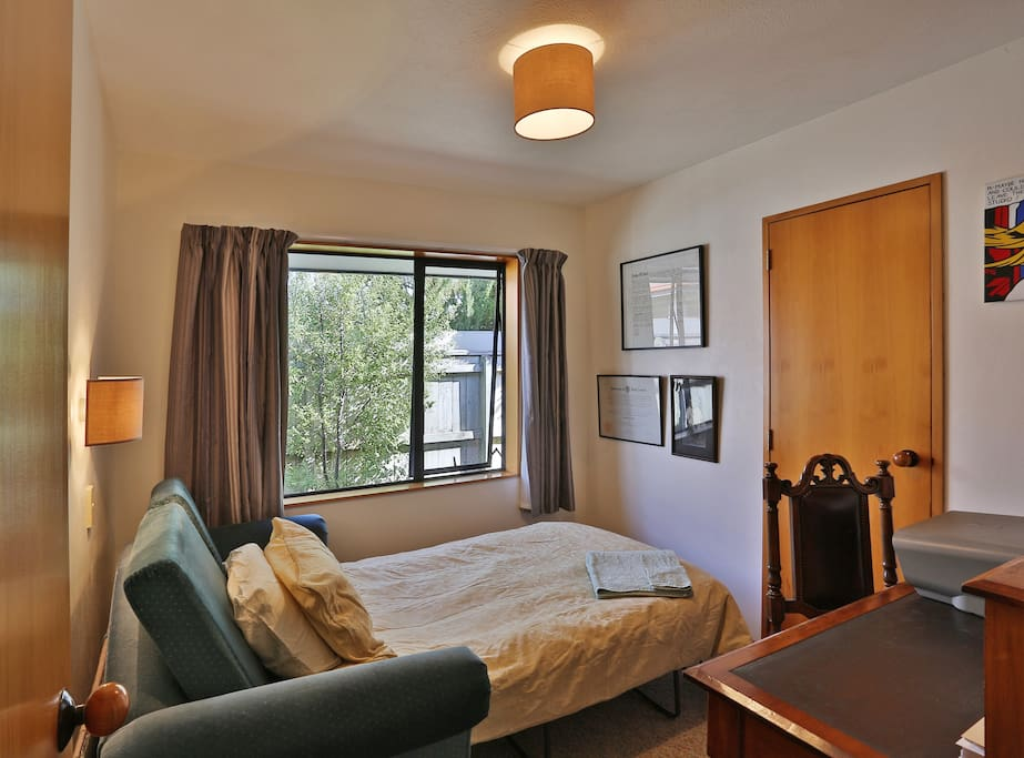 Our study room with fold out sofa bed available for $45 per night extra when booking Queen room.