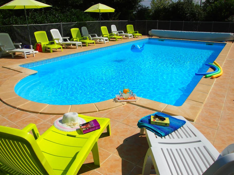 Take a dip or lounge pool side - private heated swimming pool.
