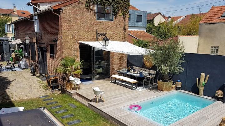 Grande maison avec piscine 3km des Champs Élysées