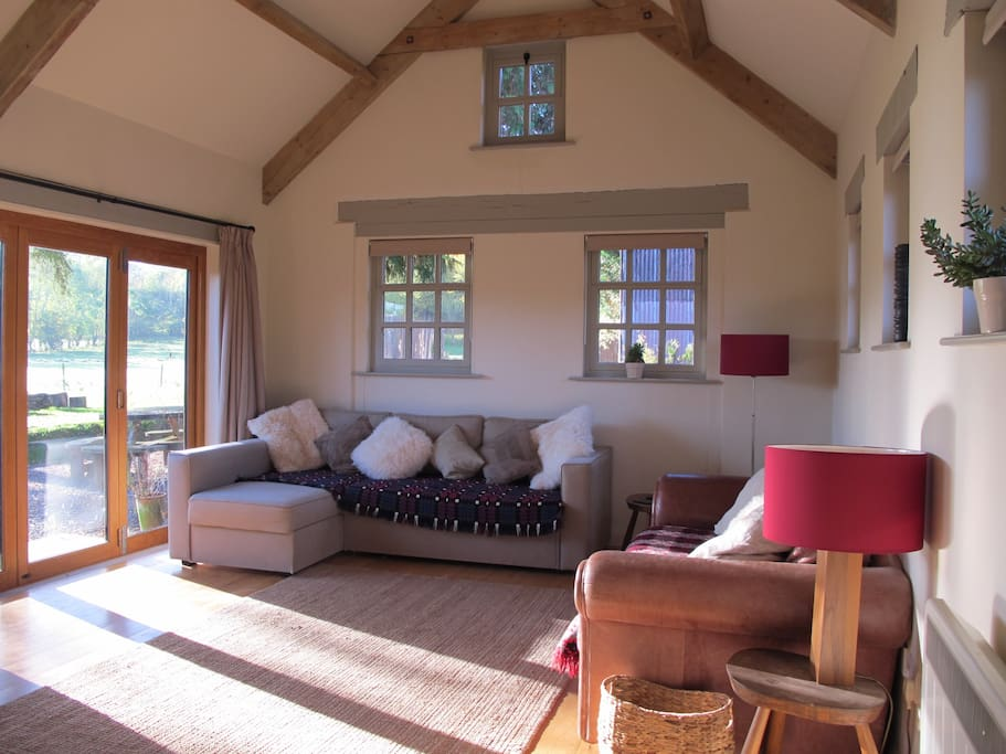 Living room looking out towards Black Mountains