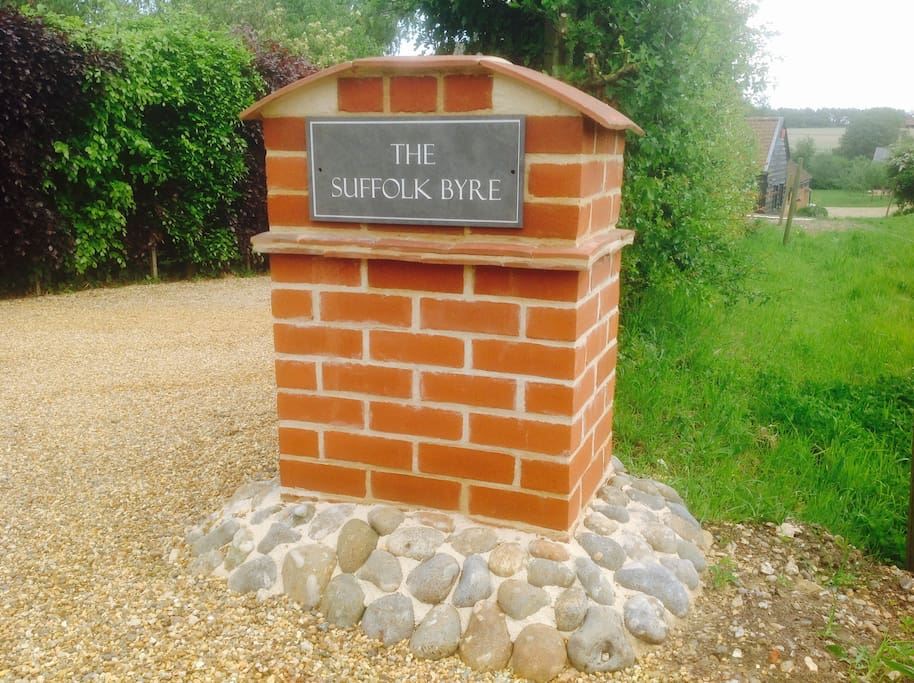 Entrance to The Suffolk Byre