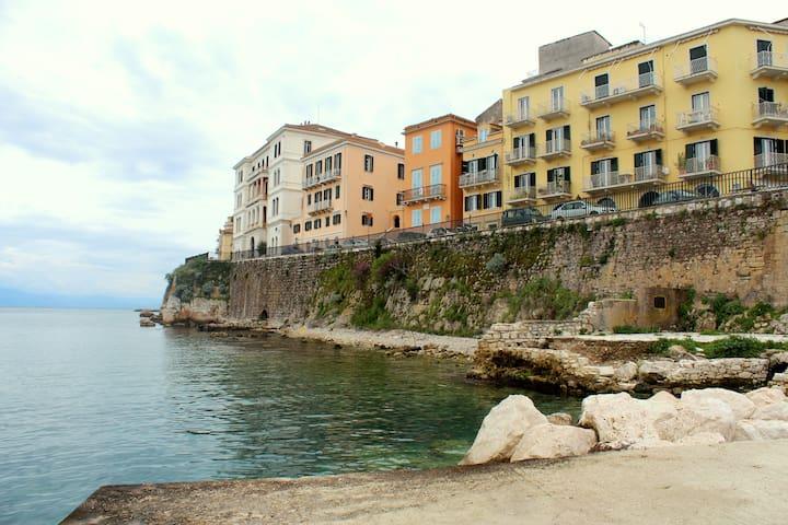 Sea&Fortressview Corfu town apartm. - Kerkira - Apartamento