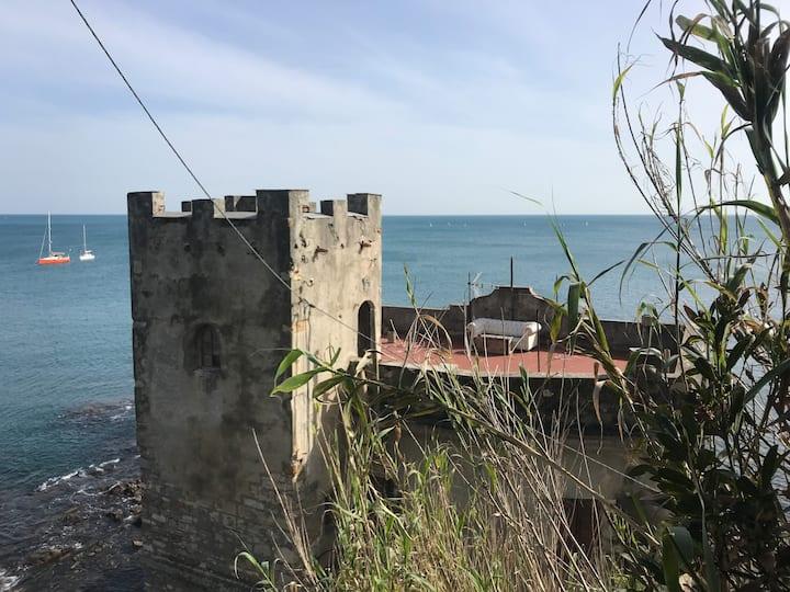 The castle on the sea near Albaro